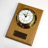Clock, Small Marine Style Wall Mounted, Personalised, Oak ref MC03